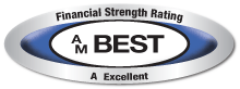 This company was issued a secure rating by the A.M. Best Company, click for additionaldetails